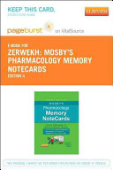 Mosby s Pharmacology Memory Notecards Pageburst E book on Vitalsource Retail Access Card