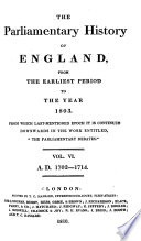 The Parliamentary History Of England, From The Earliest Period To The Year 1803 : ...