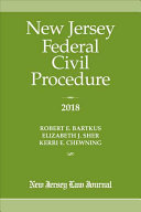 New Jersey Federal Civil Procedure 2018
