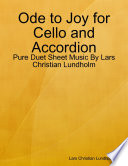 Ode to Joy for Cello and Accordion - Pure Duet Sheet Music By Lars Christian Lundholm