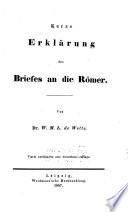 Kurzgefasstes exegetisches handbuch zum Neuen Testament