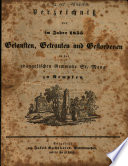 Verzeichniss der im Jahre ... Getauften, Getrauten und Gestorbenen in der Evangelischen Gemeinde St. Mang zu Kempten