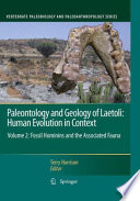 Paleontology and Geology of Laetoli  Human Evolution in Context