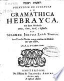 Principio de sciencia ou Gramathica Hebrayca