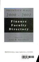 Prentice Hall Guide to Finance Faculty