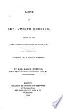 Life of Rev  Joseph Emerson