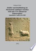 Schäfer und Schafhaltung im Fürstentum Göttingen zwischen 1616 und 1721 anhand der Schatzregister