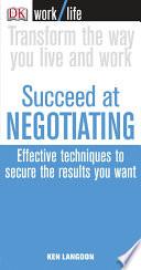Work Life  Succeed at Negotiating