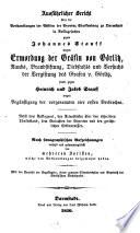 Ausführlicher Bericht über die Verhandlungen der Assisen d. Provinz Starkenburg zu Darmstadt in Anklagsachen gegen Joh. Stauff wegen Ermordung der Grafin von Görlitz, ... sowie gegen Heinr. und Jak. Stauff ...