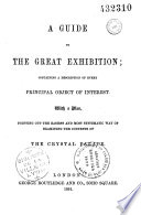 Guide to the great exhibition with a pla of the Crystal Palace