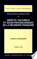 illustration du livre Aspects culturels et socio-psychologiques de la fécondité française