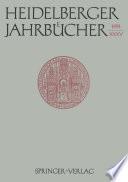 Heidelberger Jahrbücher