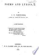 Poems and Lyrics     A new edition Book PDF