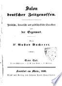 Salon deutscher Zeitgenossen politische, literarische und gesellschaftliche Charaktere aus der Gegenwart