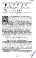 Factum pour sieur Simon Clapeyron, Marchand Bourgeois de la Ville de Lyon ; ... Contre Gabriel Gautier..., et Catherine Le roy sa Femme, ...