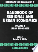 Handbook of Regional and Urban Economics  Urban economics