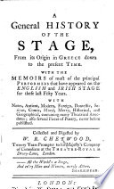 A General History of the Stage