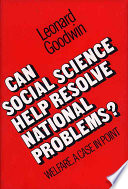 Can Social Science Help Resolve National Problems