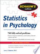 Schaum s Outline of Statistics in Psychology