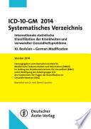 ICD-10-GM 2014 Systematisches Verzeichnis
