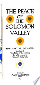 The Peace of the Solomon Valley