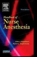 Handbook Of Nurse Anesthesia