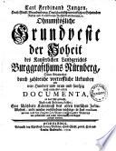 Carl Ferdinand Jungen ohnumstößliche Grundveste der Hoheit des Kayserlichen Landgerichts Burggrafenthums Nürnberg