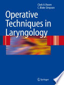Operative Techniques In Laryngology
