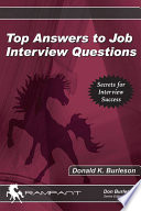Top Answers to Job Interview Questions