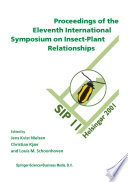 Proceedings of the 11th International Symposium on Insect-Plant Relationships On August 4 10 2001 In Helsing?r