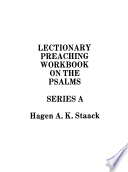 Lectionary Preaching Workbook on the Psalms