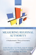 Measuring Regional Authority The Structure Of Governance Above And