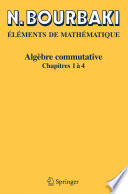 illustration du livre Algèbre commutative