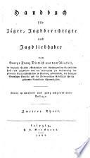 Handbuch für Jäger, Jagdberechtigte und Jagdliebhaber