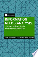 Information Needs Analysis