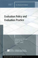 Evaluation policy and evaluation practice