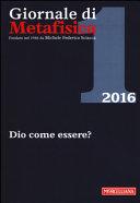 Giornale di metafisica (2016)