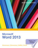 New Perspectives on Microsoft Word 2013  Introductory