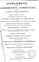 Book Supplement to The Comprehensive Commentary