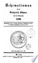 Schematismus für das Königreich Böhmen auf das Jahr 1836