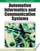 Automotive Informatics and Communicative Systems  Principles in Vehicular Networks and Data Exchange