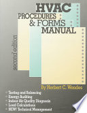 HVAC Procedures   Forms Manual  Second Edition