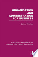 Organisation and Administration for Business  RLE  Organizations