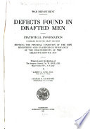 Defects Found in Drafted Men Book PDF