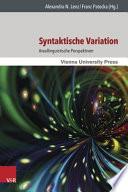 Syntaktische Variation