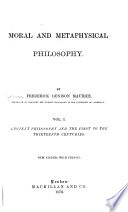 Ancient philosophy and the first to the thirteenth centuries Book PDF