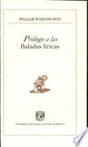 Prólogo a las Baladas líricas