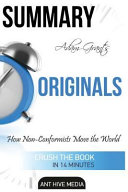 Summary Adam Grant s Originals
