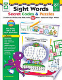 Sight Words Secret Codes   Puzzles  Grades K   1