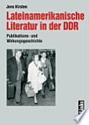 Lateinamerikanische Literatur in der DDR